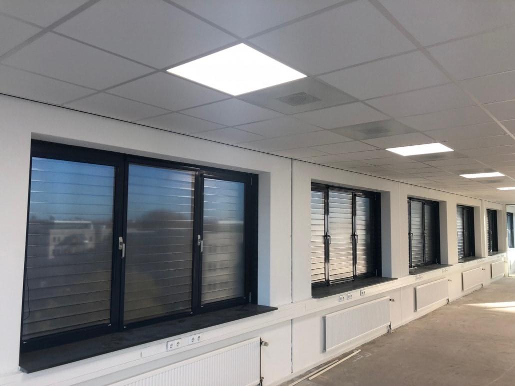 warmte- en lichtwering kantoor